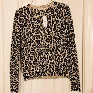 LOFT cheetah print cardigan